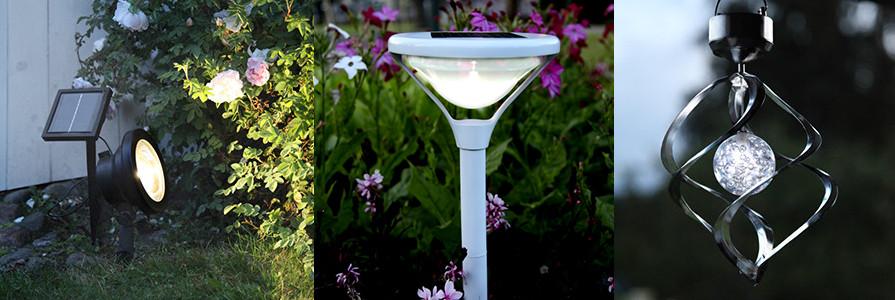 Solcellslampor och soldrivna lampor