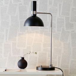 Larry bordslampa svart/krom 65cm