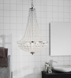 Markslöjd Gränsö kristallkrona badrum krom 40cm