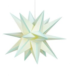 Markslöjd Skillinge 3D pappersstjärna ljusblå 50cm