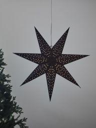 Pappersstjärna Markslöjd Clara svart 75cm