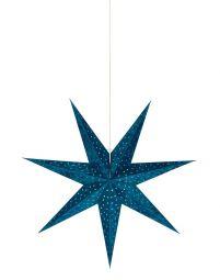 Velours Pappersstjärna blå 75cm