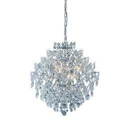 Markslöjd Rosendal taklampa kristall krom
