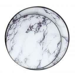 Mogihome Glasskivor Marmor vit 2-del till satsbord