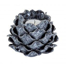 Ljuslykta Shelly keramik grå Mogihome