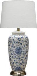 Li Jing Bordslampa porslin vit/blå 68cm PR Home
