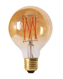 LED-lampa E27 elect filament globe 2100K 8cm 2.5W