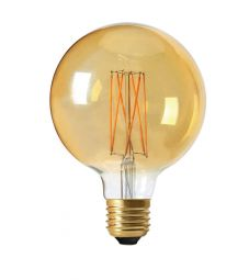 LED lampa Globe Gold 95mm E27