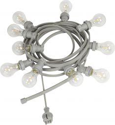 Bright Light String Ljusslinga grå 7m 10L PR Home
