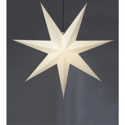 Star Trading Frozen adventsstjärna i papper vit XL 140cm