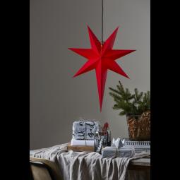 Star Trading Rozen adventsstjärna i papper röd 65cm