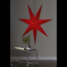 Star Trading Rozen adventsstjärna i papper röd XL 140cm