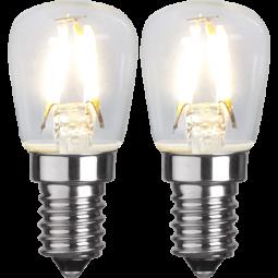 LED-lampa E14 Filament Päron 1,3W 2-pack