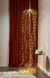 Dew drop Ljusslinga 600 LED silver 320cm