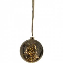 Star Trading Glaskula Glow 40 LED Rökfärgad