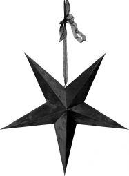 Velvet Stjärna svart med LED slinga 60cm