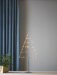 Triangle Dekorationsträd  inomhus silver 90cm