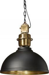 Manchester industrilampa i svart och rå mässing