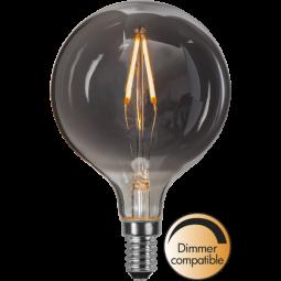 LED Lampa G80 Soft Glow smoke E14 Dimbar