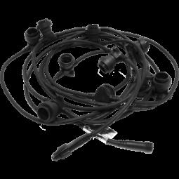 Ljusslinga Extra Connecta E27 svart 7,35m Star Trading