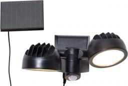Väggspotlight Solcell Powerspot 2L svart 17cm Star Trading