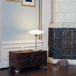 Baroni bordslampa stål/vit 40cm Halo Design