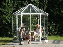 Växthus Vitavia Hera alu glas diameter 2,6m / 4,5m²