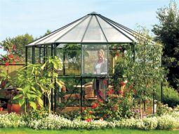 Växthus Vitavia Hera grön glas diameter 3,8m / 9m²
