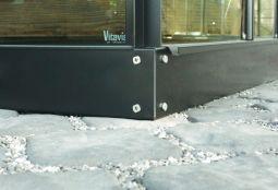 Stålsockel till Vitavias växthus (6,2m²) svart 125mm