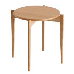 Oscarssons Möbel Tilia soffbord runt 51cm h48 oljad ek