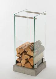 Vedställ i glas 32x75cm Swelek