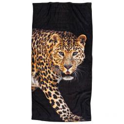 Borganäs Badlakan Leopard svart/brun 75x150cm