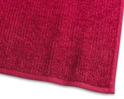Handduk Stripe Frotté 2-pack röd 50x70cm