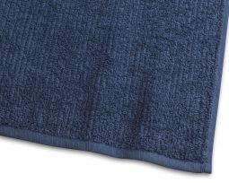 Handduk Stripe Frotté marinblå 65x130cm