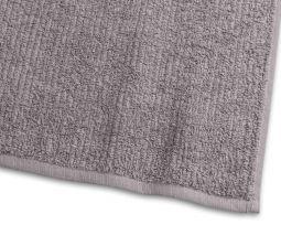 Handduk Stripe Frotté grå 65x130cm
