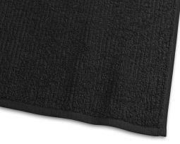 Badlakan Stripe Frotté svart 90x150cm