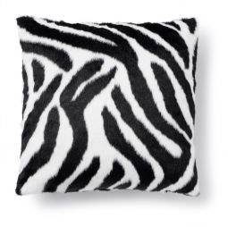 Kuddfodral kohud fake Victor zebra svart/vit Skinnwille