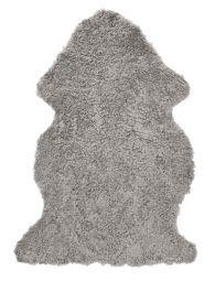 Skinnwille korthårigt fårskinn Curly natural/grå 95cm