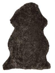 Skinnwille korthårigt fårskinn Curly brun 95cm
