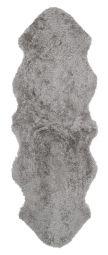 Skinnwille korthårigt fårskinn Curly natural/grå 180cm