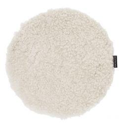Skinnwille fårskinnssits rund Curly beige/moonlight 34cm 1-p