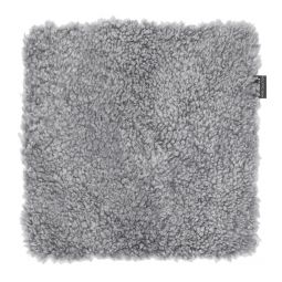 Skinnwille fårskinnssits Curly charcoal/grå 40x40cm
