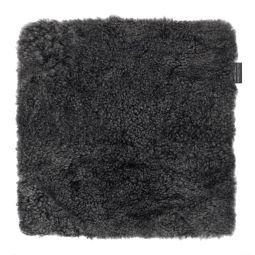 Skinnwille fårskinnssits Curly dark/grå 40x40cm