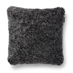 SkinnWille Kuddfodral fårskinn Curly dark/grå 45x45cm