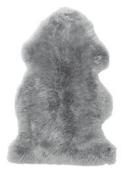 Gently långhårigt Fårskinn ljusgrå 100cm Skinnwille