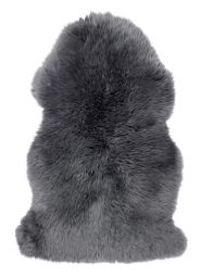 Gently långhårigt Fårskinn charcoal 100cm Skinnwille