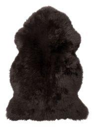 Gently långhårigt Fårskinn mörkbrun 100cm Skinnwille