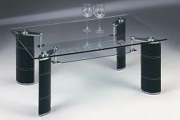 Stenexpo Mauritius soffbord 118x78cm skinnimitation / glas