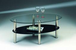Stenexpo Jenny soffbord 110x65cm glas / krom