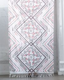 Månsing Duschhandduk Stycke röd/vit 100x150cm